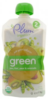 Plum Organics Eat Your Colors Green Baby Food, USA