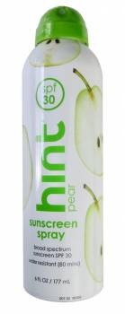 Gastronomic scent: Hint Pear sunscreen SPF 30, USA