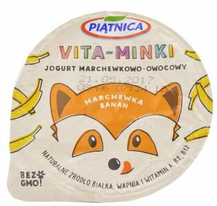 Piątnica Vita-Minki Carrot and Banana Flavoured Yogurt